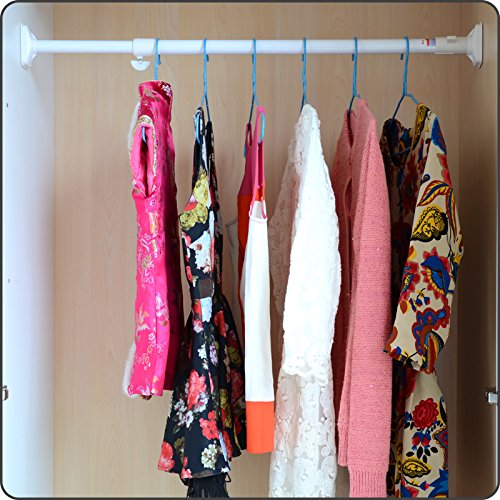 Laundry closet rod for hanging clothes pole scalable within jumbo wardrobe shower curtain rod curtain rod free installation