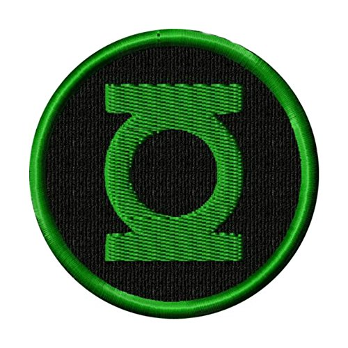 "J&C Family Owned DC Comics The Green Lantern Logo 4"" Embroidered Sew/Iron-on Patch/Appliquees"