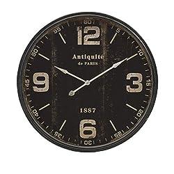 IMAX 18301 Robertson Wall Clock, Black