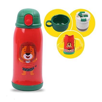 YFYF Acero Inoxidable,cantimplora Infantil niña,Botella de Agua para niños, a Prueba de derrames, Libre de BPA,