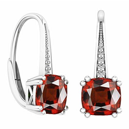 Dazzlingrock Collection 14K Ladies Dangling Drop Earrings, White Gold