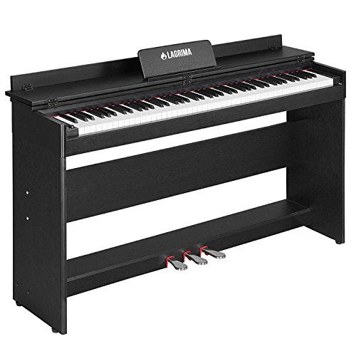 Best Review Of LAGRIMA Digital Piano, 88 Key Electric Keyboard Piano for Beginner/Adults W/Music Sta...