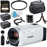 Canon VIXIA HF R800 Camcorder (White) 1960C003 + BP-727 High Capacity Battery + Sony 32GB SDHC Card + Compact Camcorder Case + Memory Card Wallet + Card Reader + Mini HDMI Cable + Tripod Bundle