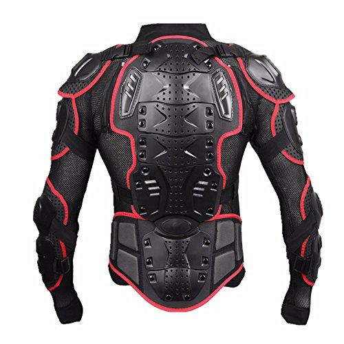 Motorcycle Full Body Armor Protective Jacket Guard ATV Motocross Gear Shirt Red Size M For Yamaha FZ1 FZR 600 1000 1100 FJR Fazer