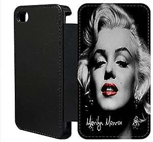 Wallet Flip funda por iPhone 5c [MARILYN MONROE] primera calidad Wallet Flip PU ??cuero funda por iPhone 5c [FDIOJPWAH3229]