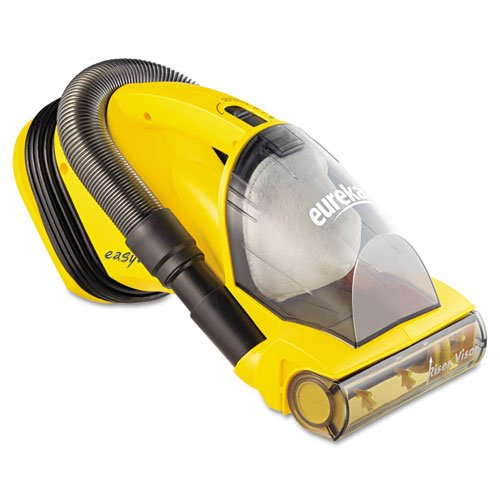 Eureka Easy Clean Hand Vacuum 5 lbs, Yellow – crevice tool, on-board hose with cord wrap, easy-empty dust cup, Riser Visor.