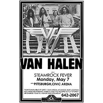 0ff09f8cfe6 Innerwallz Van Halen Steamrock Fever Civic Arena 1979 Live Concert Retro  Art Concert Poster — Features