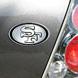 NFL San Francisco 49ers Chrome Automobile Emblem