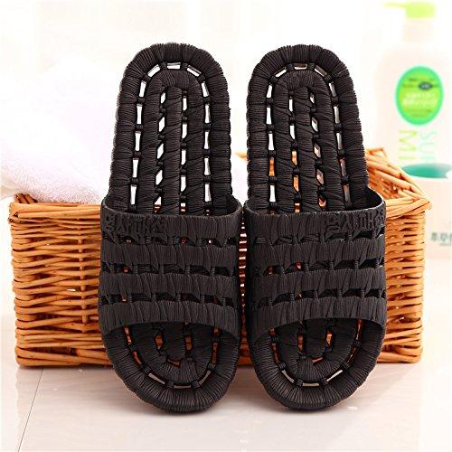 DogHaccd pantofole,Il bagno pantofole donne indoor estate home soggiorno con una morbida antiscivolo bagno in plastica coppie maschio cartoon cool pantofole,Nero41-42