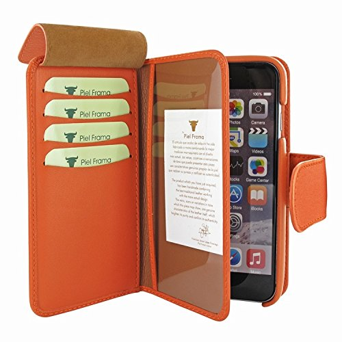 Piel Frama 717 Orange WalletMagnum Leather Case for Apple iPhone 6 Plus / 6S Plus by Piel Frama (Image #4)
