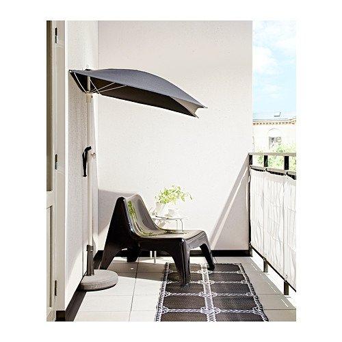 Ikea Fliso Ombrellone 160 X 100 Cm Colore Nero Amazon It Casa