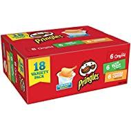 Pringles Snack Stacks Potato Crisps Chips, 3 Flavors Variety Pack, 18 Cups