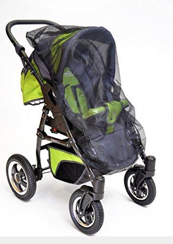 Best For Kids Universal-Insektenschutz passend für Kinderwagen, Sportwagen, Jogger, schwarz F4545