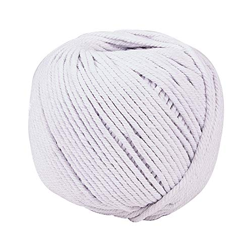 (PH PandaHall 4mm (About 120 Yards) Cotton Macrame Cord Twine, Craft Rope Yarn for DIY Plant Hanger Wall Hanging Dream Catcher Decoration, Floral White)