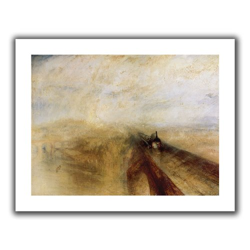 ArtWall 'Rain Steam and Speed, The Great Western Railway II' Unwrapped Canvas Art by William Turner, Flat 40 by 52-Inch