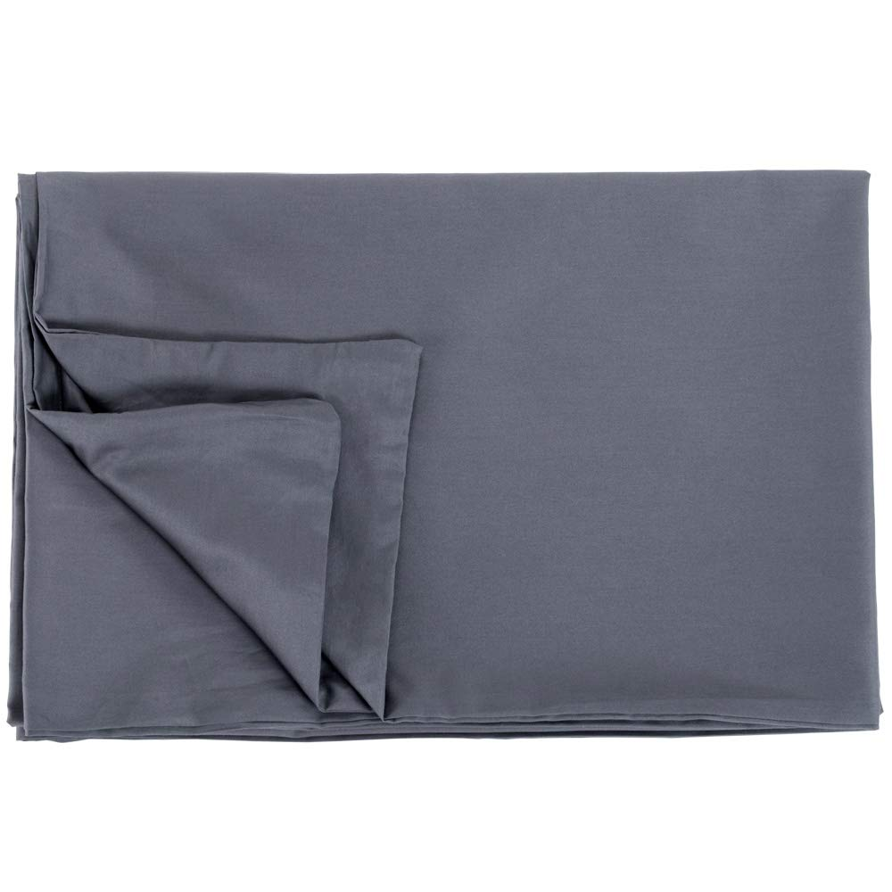 CALA Cotton Duvet Cover for Weighted Blankets (48''x72'') DK Grey Cover