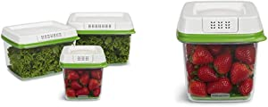 Rubbermaid - FreshWorks Produce Saver Food Storage Container, & 1920478 6.3Cup Produce Container, 6.3 Cup, Green