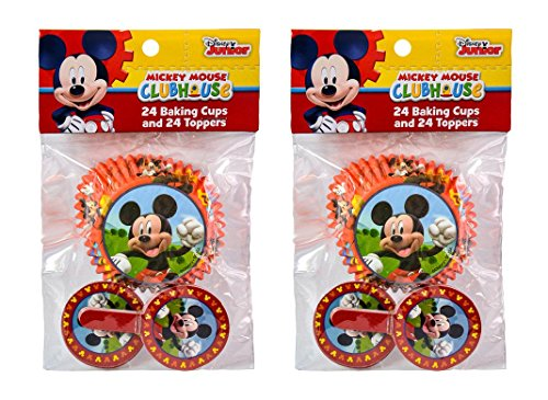 2-Pack Disney Mickey Mouse Clubhouse 24 Cupcake Liners & 24 Toppers (48 Total)