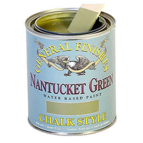 Milk Paint Green (General Finishes MNGP Chalk Style Paint, 1 pint, Nantucket Green)