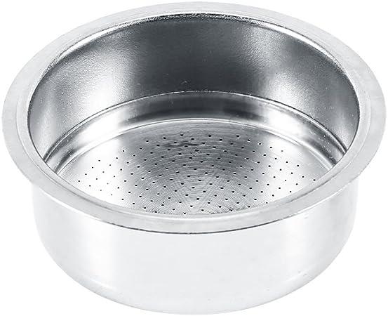 Filtro de café de acero inoxidable, 2 tazas accesorios de la máquina de café con filtro de cesta de filtro no presurizado: Amazon.es: Hogar