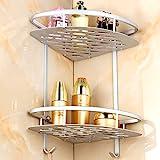 Aluminum alloy Bathroom Storage Space Saver, Multifunctional 2-Tier Freestanding Organizing Shelf & Storage Rack