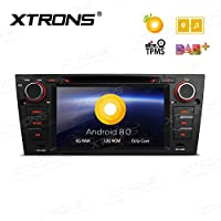 XTRONS 7 Inch Android 8.0 Octa Core 4G RAM 32G ROM HD Digital Multi-touch Screen OBD2 DVR Car Stereo DVD Player Tire Pressure Monitoring TPMS Wifi for for BMW E90 E91 E92 E93