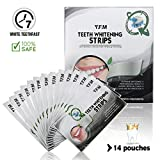 Charcoal Teeth Whitening Strips, Y.F.M Professional Home Use Bamboo Teeth Whitening Kit, Comfortable 3D Dental Care Set Teeth stains remover Natural Teeth Whitener Health Gel, Non-Hydrogen Peroxide 14 Treatments
