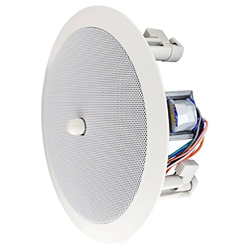 SPECO 86 Series SPG86TC 8 inch 70/25V in-ceiling Speaker with volume control Knob ()