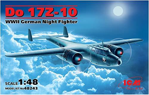 Night Fighter Kit - ICM Models Dornier Do17Z-10 WWII German Night Fighter Model Kit (1/48 Scale)