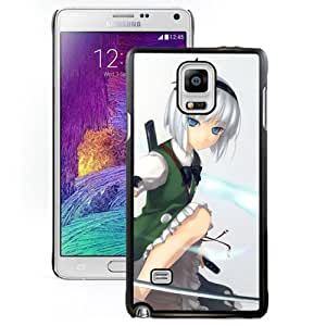 Popular And Unique Designed Cover Case For Samsung Galaxy Note 4 N910A N910T N910P N910V N910R4 With Girl Blonde Sword Militancy Sky black Phone Case