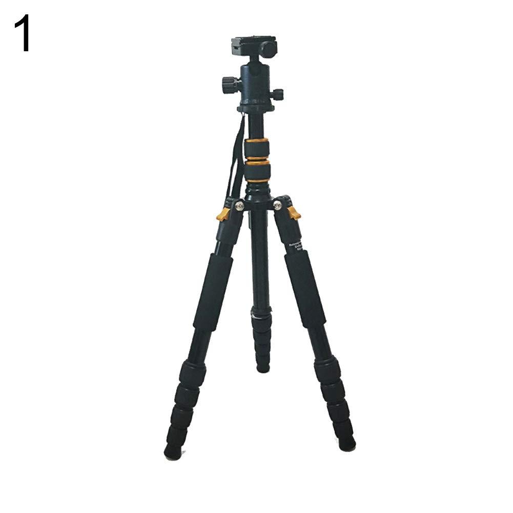Powerfulline Q666 プロフェッショナル 一眼レフ/デジタル一眼レフカメラ 三脚 ボールヘッドスタンドホルダー キヤノン ニコン用  ゴールド B07MVD2QDP