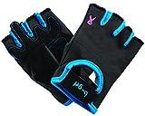 Saranac b-grl just4me Fitness Gloves, Graphite/Cobalt, Small
