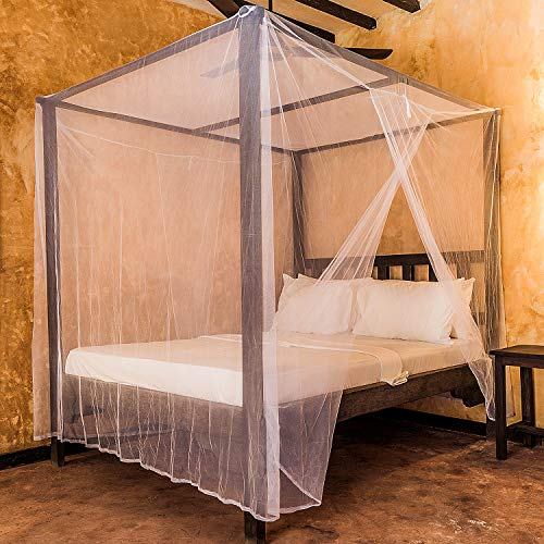 Universal Backpackers Mosquito Net for Double Bed - 6 Hanging Loops & 2 Side Openings - Bed Canopy Hanging Kit & Carrying Bag Included - Decorative Rectangular Shape for Home & Travel by Universal Backpackers (Image #8)