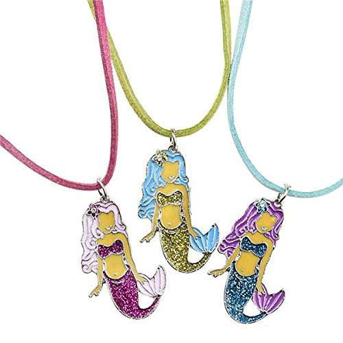 Party Supplies Mermaid Necklace Party Favors - 12 ct