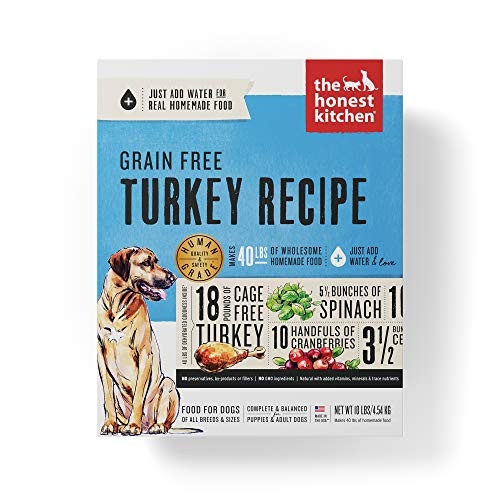 Honest Kitchen Human Grade Dehydrated Grain Free Turkey Dog Food 10 lb Box - Embark (10 Best Dog Foods)
