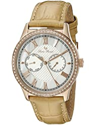 Lucien Piccard Womens LP-10334-RG-02-BG Brela Analog Display Japanese Quartz Beige Watch