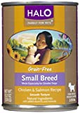 Halo Grain Free Chicken and Salmon Small Breed Dog Food, 13.2 oz.