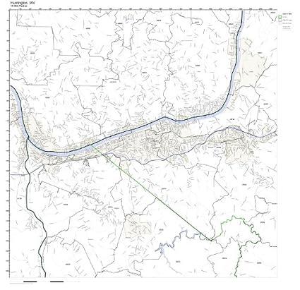 Huntington Wv Zip Code Map.Amazon Com Huntington Wv Zip Code Map Laminated Home Kitchen