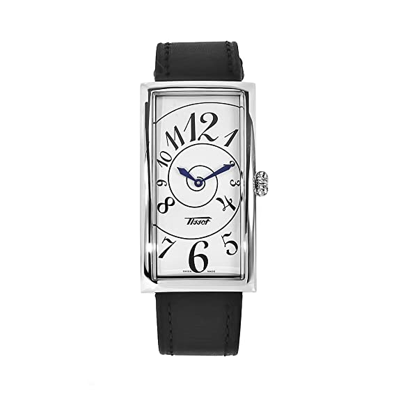 Tissot T56162282 - Reloj analógico de cuarzo para mujer con correa de piel, color negro