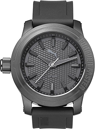 Puma PU103991002 Men's Forever Gunmetal Silicone Design Watch