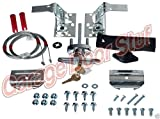 (RB) Garage Door Lock Kit w/Spring Latch - Keyed in Handle-UNIVERSAL- All Doors