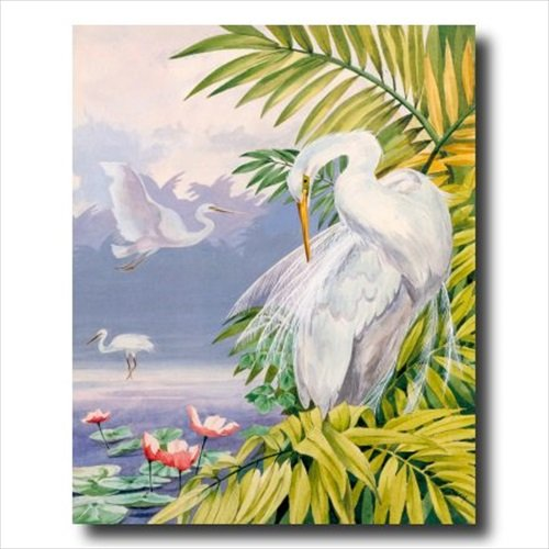 Tropical Lake Exotic Bird Animal Wildlife Contemporary Wall Picture 16x20 Art Print