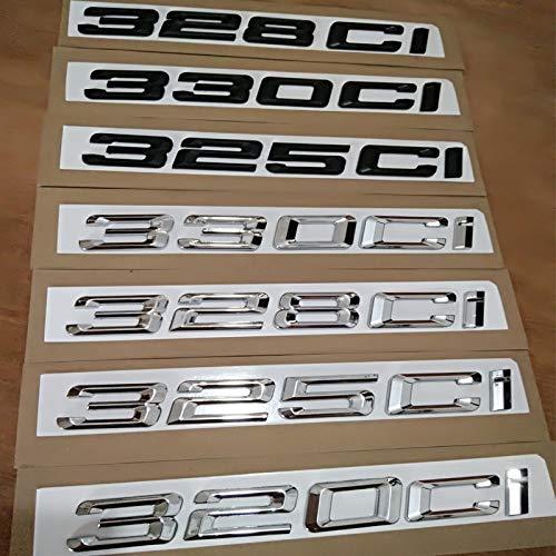 As picture car Rear Emblem Sticker for BMW M3 E90 E91 E92 F30 320ci 325ci 330ci 328ci  (color Name  325CI Silver)