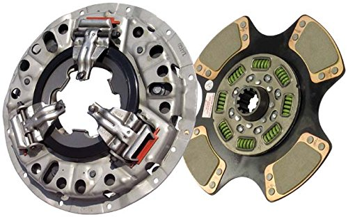 IATCO 107621-2-IAT 350mm x 1-3/4'' Stamped Steel Clutch (Single-Plate, Push-Type, 4-Paddle / 8-Spring, 2400 Plate Load / 500 Torque)