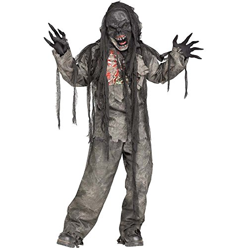 Burning Dead Zombie Costume Kids