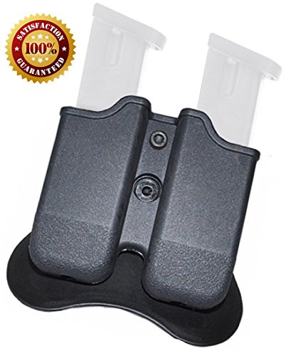 Glock Magazine Holder ✮ 9mm Magazine Holster ✮ The Ultimate Double Stack Glock Holder with Paddle ✮ 9mm and .40 Caliber Magazine Pouch ✮ Backed By GoZier Tactical