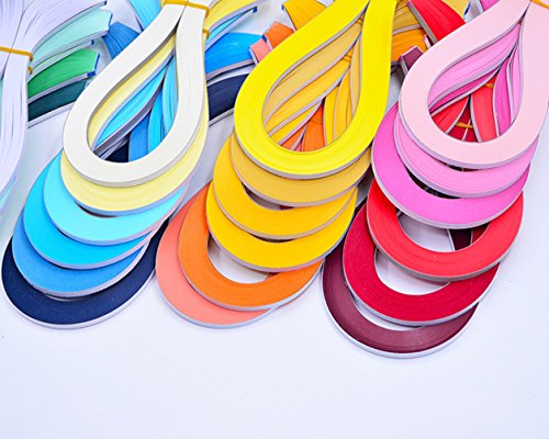 YURROAD Paper Quilling Kits 5mm Wide Paper with 33 Colors 3960 Strips and Slotted Tool (33 Pack 33 Colors) by YURROAD (Image #4)