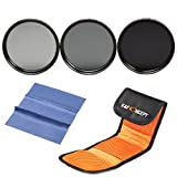 62MM ND Filter Kit K&F Concept ND2 ND4 ND8 Neutral Density ND Filters Set For Sigma 18-200mm f/3.5-6.3 II DC 18-250mm 70-300mm 28-300mm 18-125mm Lens + Cleaning Cloth + Shockproof Filter Bag