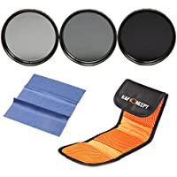 K&F Concept 62mm Lens Filter Kit ND2 ND4 ND8 ND Neutral Density ND Lens Filters Set For Sigma 18-200mm f/3.5-6.3 II DC 18-250mm 70-300mm 28-300mm 18-125mm Lens