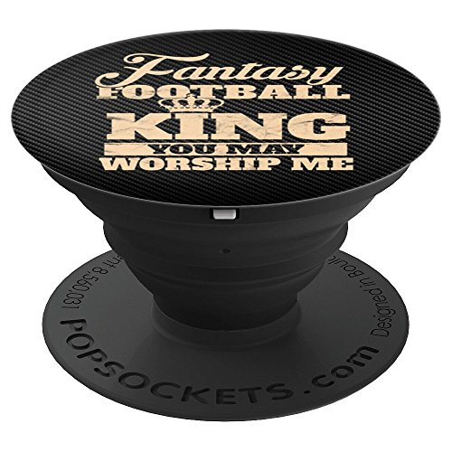Fantasy Football King Funny Sports Draft Vintage Black Gift - PopSockets Grip and Stand for Phones and Tablets
